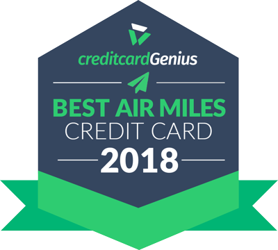 Best AIR MILES Credit Card for 2018 award seal