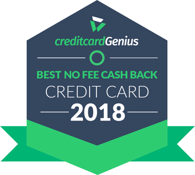 Best No Annual Fee Cash Back Credit Cards in Canada for 2018 award seal