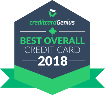 Best Credit Card in Canada for 2018 award seal