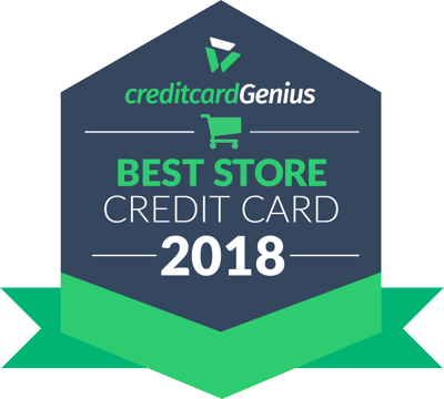 Best Store Credit Card for 2018 award seal