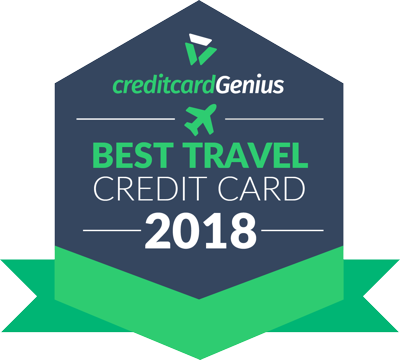 Best Travel Credit Card in Canada for 2018 award seal