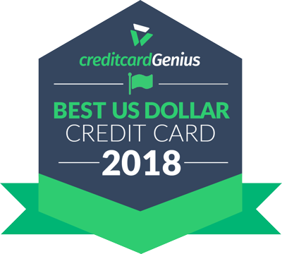 Best US Dollar Credit Card for 2018 award seal