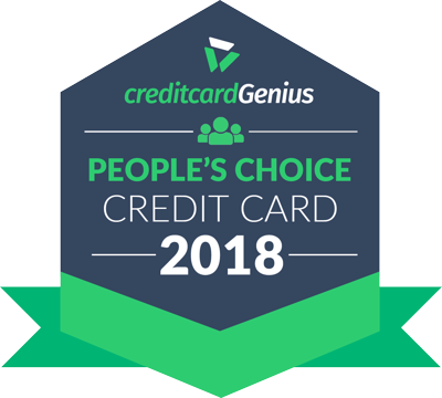 People's Choice credit card award seal